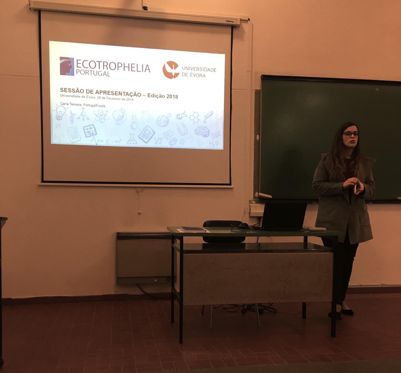 Ecotrophelia Portugal, Media, Notícias, Estudantes da Universidade de Évora desafiados