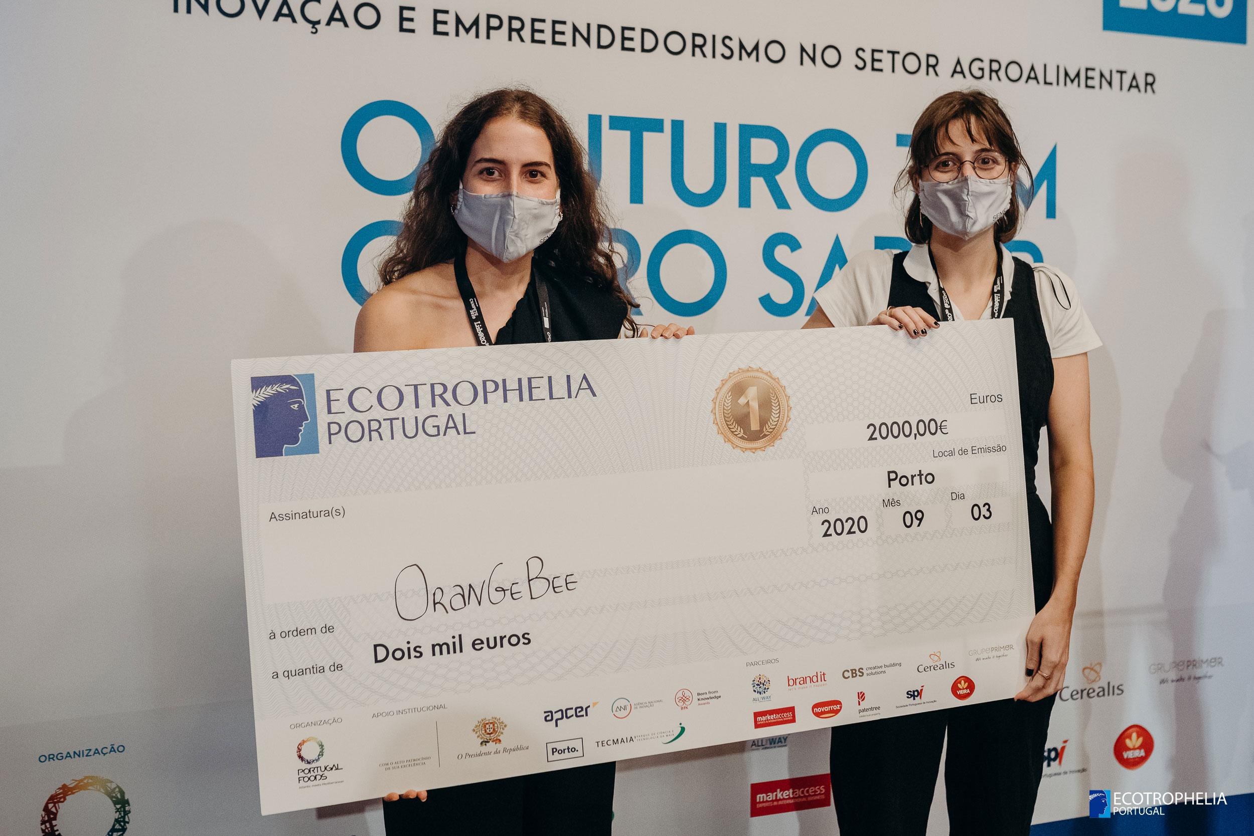 OrangeBee - Equipa vencedora ECOTROPHELIA Portugal 2020