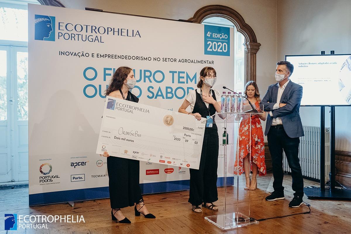 Ecotrophelia Portugal, Media, Press Release, Preparado fermentado de aquafaba com geleia de laranja e pólen vence ECOTROPHELIA Portugal 2020